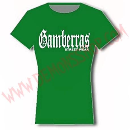 Camiseta MC Chica Gamberras Street Wear (Verde)