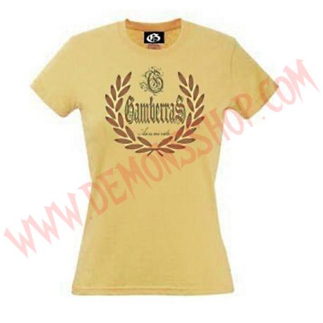 Camiseta MC Chica Gamberras Asi es mi vida (Amarilla)