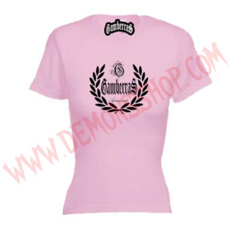 Camiseta MC Chica Gamberras Asi es mi vida (Rosa)