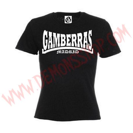 Camiseta MC Chica Gamberras Madrid (Negra)