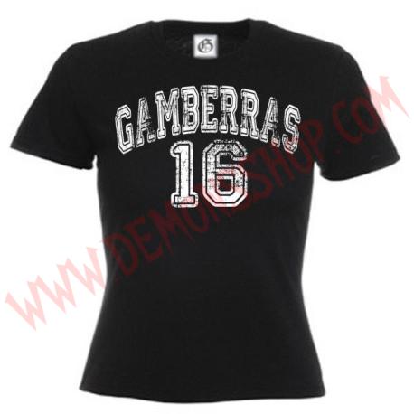 Camiseta MC Chica Gamberras 16 (negra)