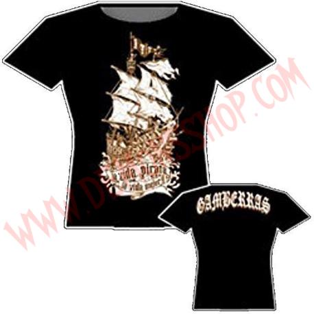 Camiseta MC Chica Gamberras la vida pirata