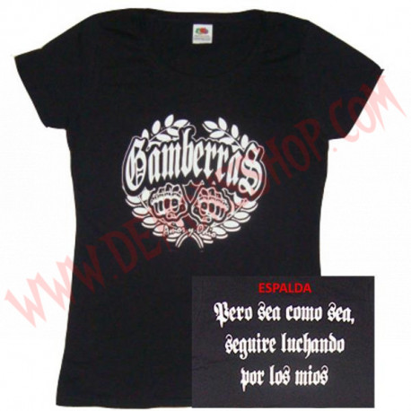 Camiseta MC Chica Gamberras Amor y Odio