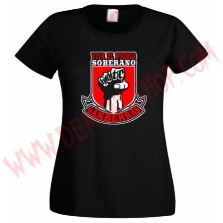 Camiseta MC Chica Gamberras viva el pueblo soberano