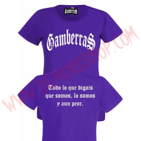 Camiseta MC Chica Gamberras Clasica (Morada)