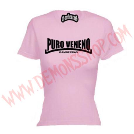 Camiseta MC Chica Gamberras Puro veneno (Rosa)