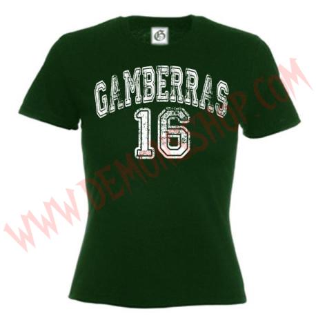 Camiseta MC Chica Gamberras 16 (Verde)