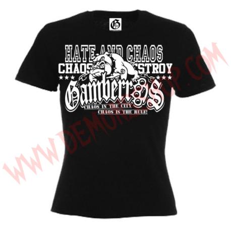 Camiseta MC Chica Gamberras Chaos
