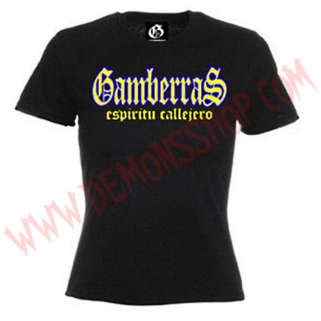 Camiseta MC Chica Gamberras Espiritu callejero