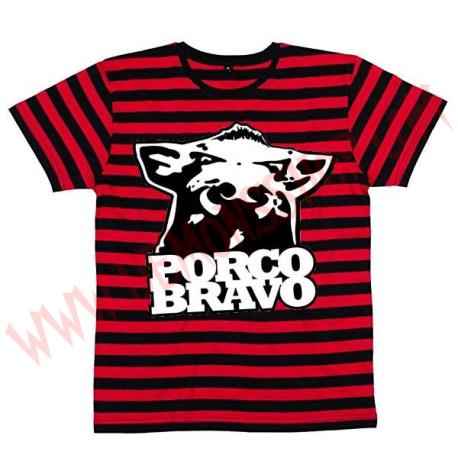 Camiseta MC Porco bravo (Rayas)