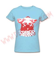 Camiseta Chica MC Porco Bravo (Azul)