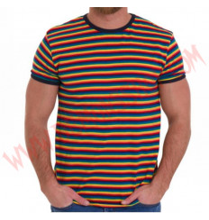 Camiseta MC Rayas Rainbow