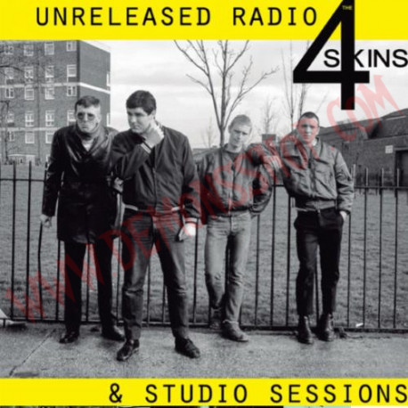 Vinilo LP The 4 Skins ‎– Unreleased Radio & Studio Sessions