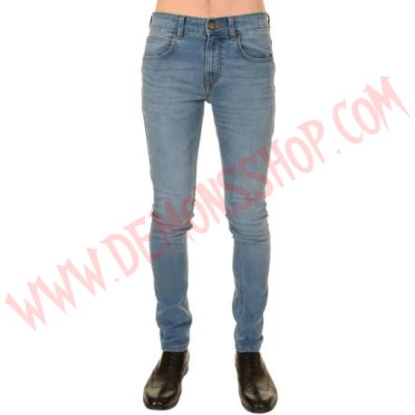 Pantalon Elastico Pitillo Azul Rocker
