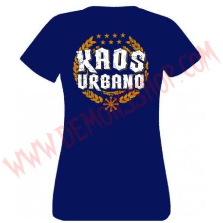 Camiseta Chica MC Kaos urbano (Azul)