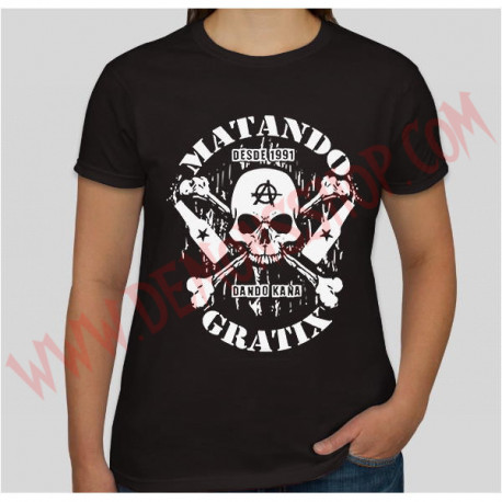 Camiseta Chica MC Matando Gratix (negra)