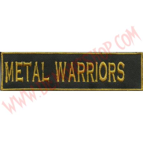 Parche metal warriors