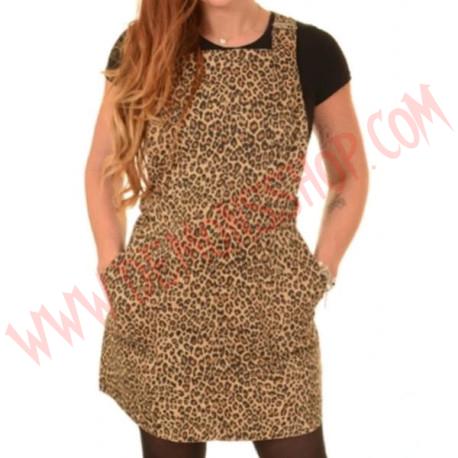 Vestido Pinafore Leopard