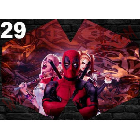 Mascarilla Deadpool & Harley Quinn