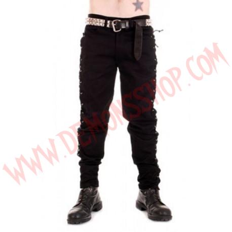Pantalon Negro Anillas Pequeñas Laterales
