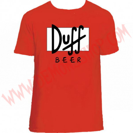 Camiseta MC Duff Beer (Roja)