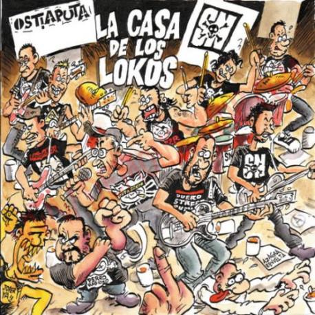 Vinilo LP Ostia Puta S.N.– La casa de los Lokos