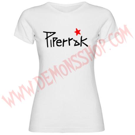Camiseta Chica MC Piperrak (Blanca)