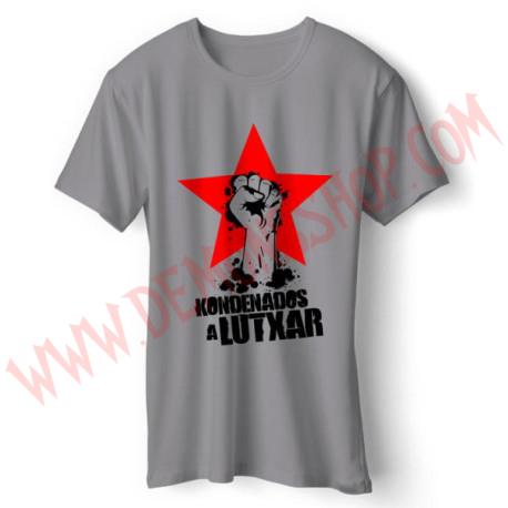 Camiseta Chica MC Josetxu Piperrak (Gris)