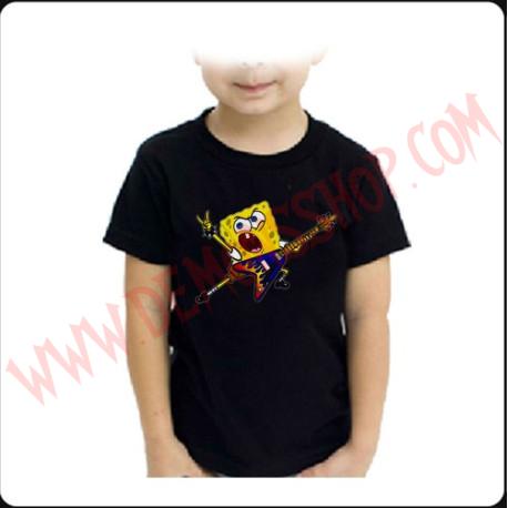 Camiseta Niño Bob Esponja Heavy Metal