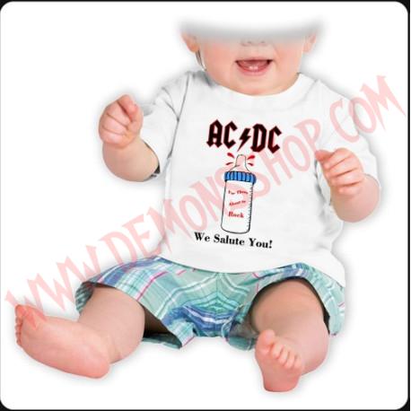 Camiseta Bebe Blanca MC Ac Dc