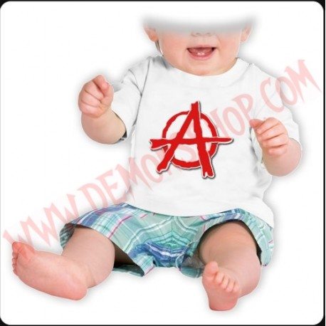 Camiseta Bebe Blanca MC Anarkia
