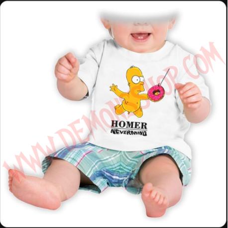 Camiseta Bebe Blanca MC Hommer Nevermind