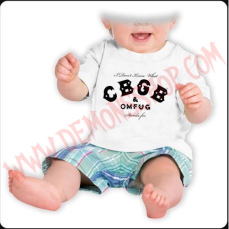 Camiseta Bebe Blanca MC CBGB