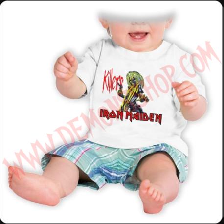 Camiseta Bebe Blanca MC Iron Maiden