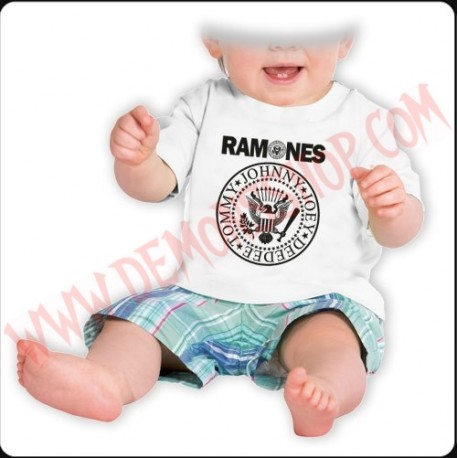 Camiseta Bebe Blanca MC Ramones