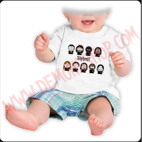 Camiseta Bebe Blanca MC Slipknot