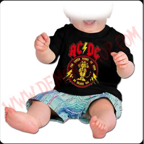 Camiseta Bebe Negra MC Ac Dc