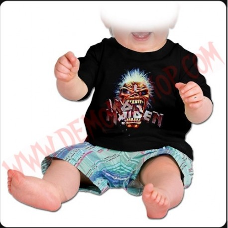 Camiseta Bebe Negra MC Iron Maiden