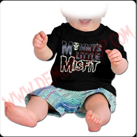 Camiseta Bebe Negra MC Misfit