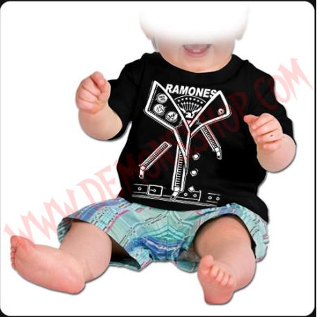 Camiseta Bebe Negra MC Ramones