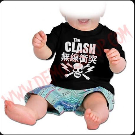 Camiseta Bebe Negra MC The Clash