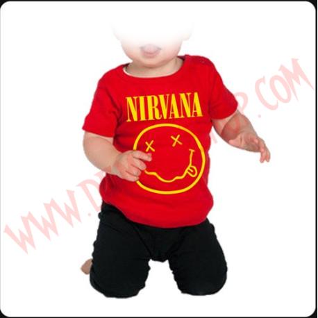 Camiseta Bebe Roja MC Nirvana