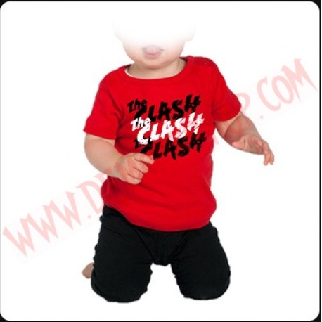 Camiseta Bebe Roja MC The Clash