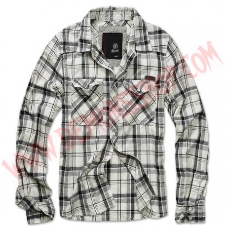 Camisa ML Check Fred Black OffWhite