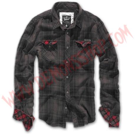 Camisa ML Check Duncan Brown Black