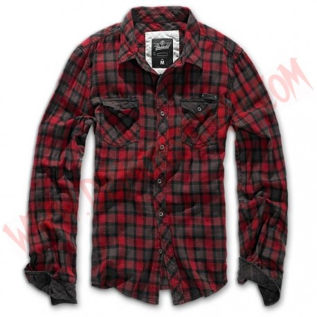 Camisa ML Check Duncan Red Brown