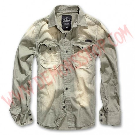 Camisa ML Hardee Olive Grey
